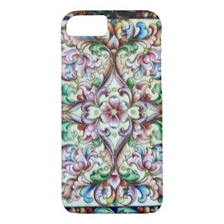 ELEGANT GREEN PINK FLORAL FANTASY iPhone 8/7 CASE