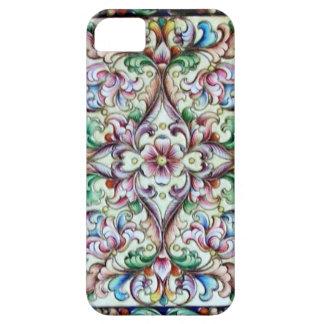 ELEGANT GREEN PINK FLORAL FANTASY iPhone SE/5/5s CASE
