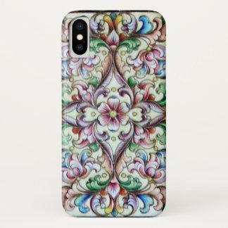 ELEGANT GREEN PINK FLORAL FANTASY iPhone X CASE