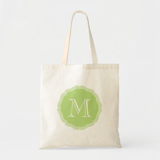 Elegant green stock market with monograma clearly bag