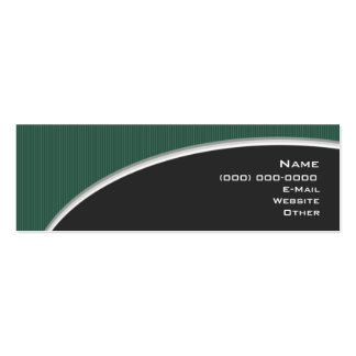 Elegant Green V.2.1 Double-Sided Mini Business Cards (Pack Of 20)