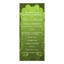 Elegant Green Wedding Program