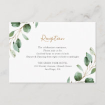 Elegant Greenery Eucalyptus Wedding Reception Enclosure Card