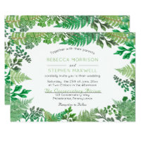 Elegant Greenery | Wild Ferns Wedding Invitations
