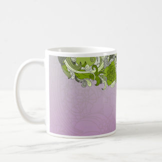 Elegant greenish butterfly coffee mug