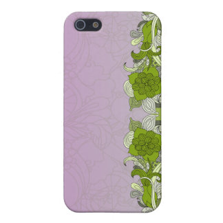 Elegant greenish butterfly iPhone 5 cases