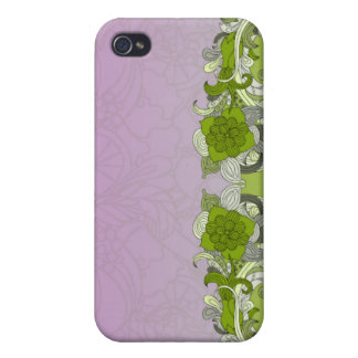Elegant greenish butterfly iPhone 4/4S cover