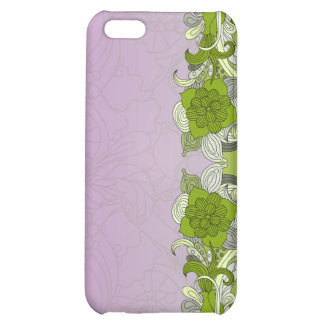 Elegant greenish butterfly cover for iPhone 5C
