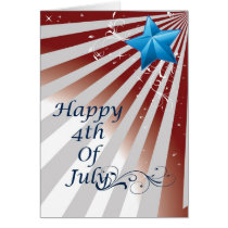 elegant greetings Independence Day fourth of july Card