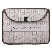 Elegant Grey and Pink Vintage Keys MacBook Pro Sleeve