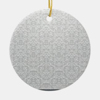 Elegant Grey and White Damask Vector Christmas Ornaments