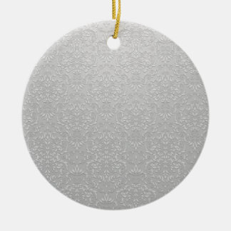 Elegant Grey and white floral gift Christmas Tree Ornament