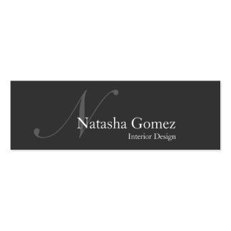 Elegant Grey and White Monogram Business Card