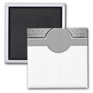 Elegant Grey and White swirls Magnet