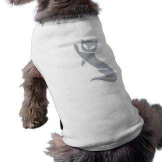 Elegant Grey Cat Pet T-shirt