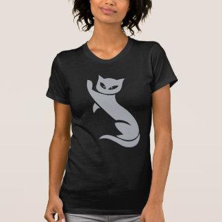 Elegant Grey Cat Tshirt