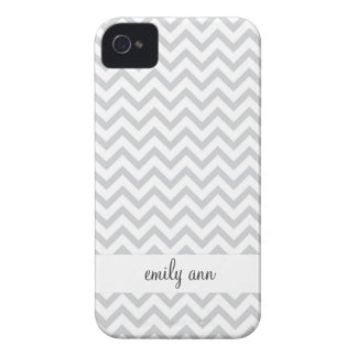 Elegant Grey Chevrons Pattern iPhone 4 Case
