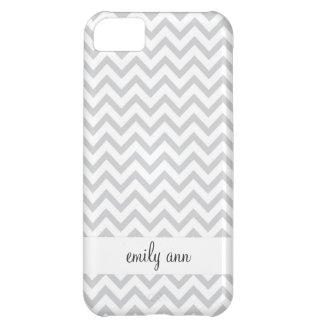 Elegant Grey Chevrons Pattern iPhone 5C Case