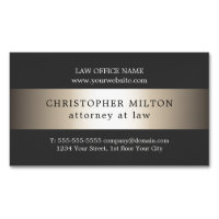 Attorney business cards 3300 attorney business card templates large business cards elegant grey faux gold stripe attorney at law flashek Images