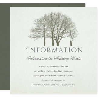 ELEGANT GREY GOLD FALL AUTUMN TREES  INFORMATION CARD