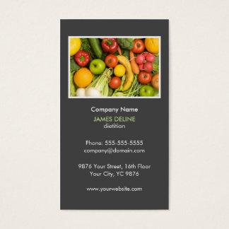 Elegant Grey Nutritionist Diet Health Business Card