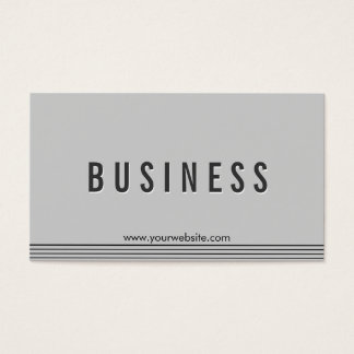 Elegant Grey Purchasing Agent Business Card