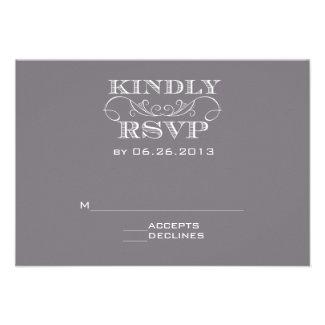 Elegant Grey RSVP Cards