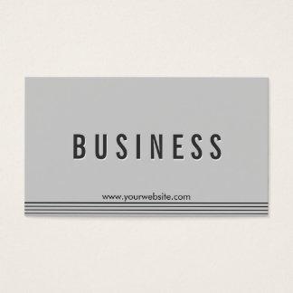Elegant Grey Talent Agent Business Card