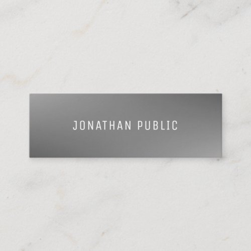 Elegant Grey Template Professional Trendy Modern Mini Business Card