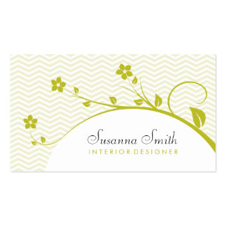 Elegant group in target with flowers and chevrón business card
