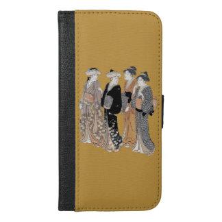 Elegant Group of Pretty Japanese Geisha Ladies iPhone 6/6s Plus Wallet Case
