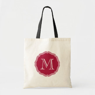 Elegant group of red stock market of monograma tote bags