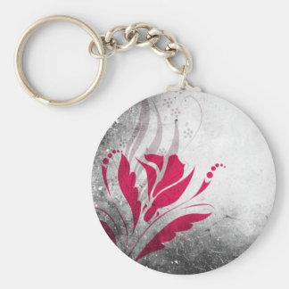 Elegant Grunge Abstract Design Keychain