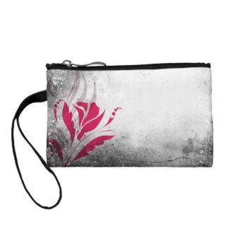 Elegant Grunge Floral Wristlets Purse Design