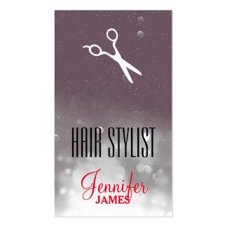 elegant grunge hairstylist hair stylist grey gray business card