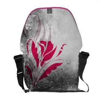 Elegant Grunge Pink Floral Messenger Bag