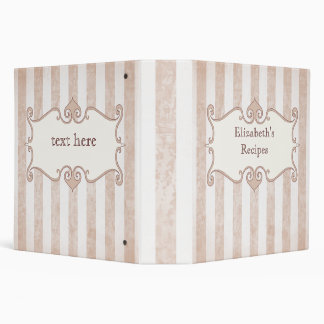 "Elegant grunge striped pink 2"" binder"