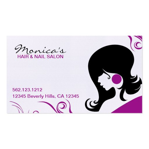 Elegant hair salon w appointment date business card for Hair salon business card template