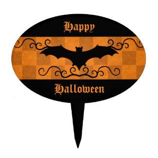 Elegant Halloween bat Cake Topper