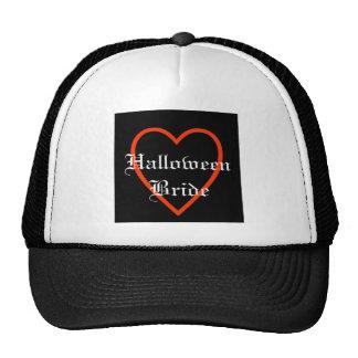 Elegant Halloween Bride Trucker Hats