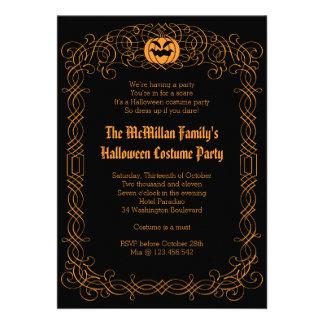 Elegant Halloween Costume Party Invitation