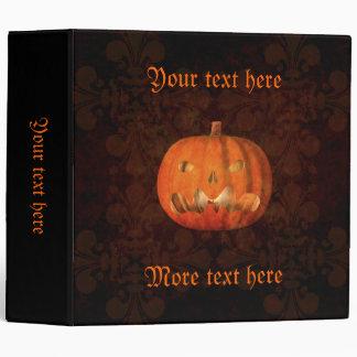 Elegant Halloween jack o lantern 3 Ring Binders