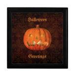 Elegant Halloween jack o lantern decor Trinket Box