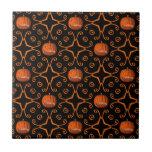 Elegant Halloween jack o lantern kaleidoscope Ceramic Tile