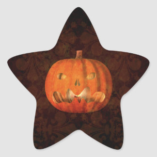 Elegant Halloween jack o lantern Star Sticker