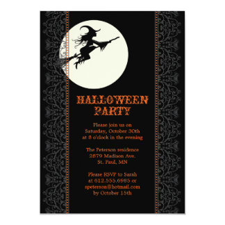 Elegant Halloween Party Invitation - A
