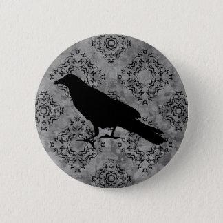 Elegant Halloween raven Pinback Button