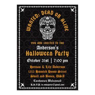 Elegant Halloween Skull Invitation