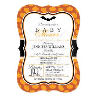 Elegant Halloween Theme Baby Shower Invite