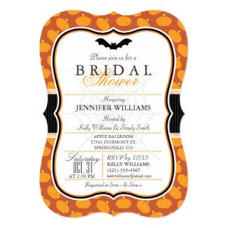 "Elegant Halloween Themed Bridal Shower Invitation 5"" X 7"" Invitation Card"